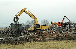 Demolition of former manufacturing facility